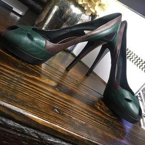 Kenzo color block heels